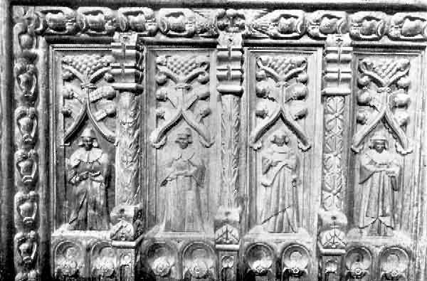 Lustleigh: Carving on Panels of Screen
